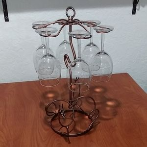 Wine Glass Holder w/Glasses